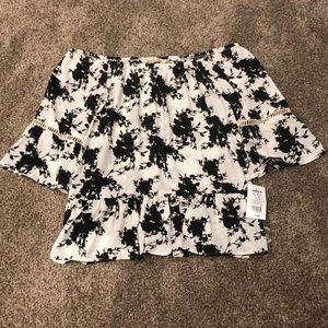 Off the shoulder floral dress top